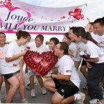 Creative Marriage Proposal At Walkathon